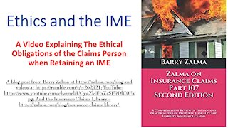 Ethics and the IME