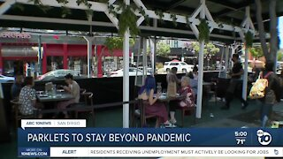 Parklets to stay beyond pandemic