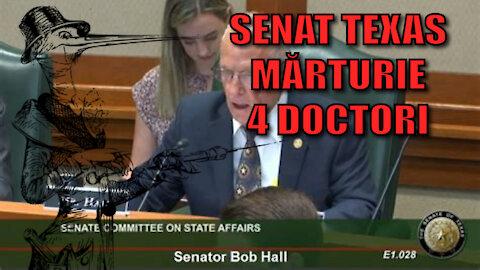4 Doctori depun Marturie in Senatul Statului Texas (Vaxxinuri)
