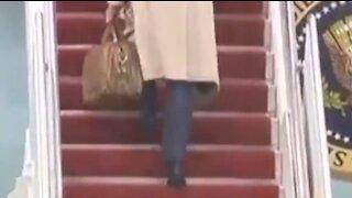WATCH: Joe Biden Having Trouble with Stairs AGAIN