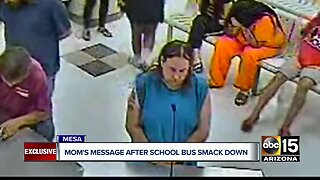 Mother of bus driver arrested for child abuse speaks out