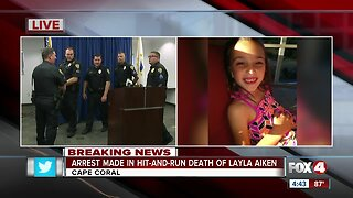 Police make arrest in death of 8 year old Layla Aiken Cape Coral