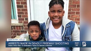 Arrests made in freeway shooting that killed 2-year-old boy