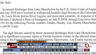 Federal loans available for small businesses affected by algae