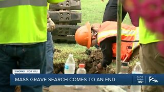 Mass grave search comes to an end
