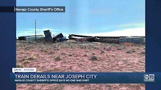 Train derailment near Joseph City