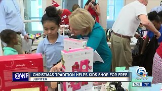 Christmas tradition helps children shop for free in Palm Beach County