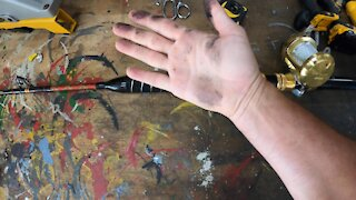 Fishing rod grip repair . 5 minute EASY FIX !!!