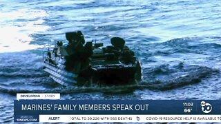 Marines' family members speak out