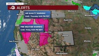 Hot and hazy again across Colorado today