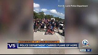 Port St. Lucie Police Department carries flame of hope