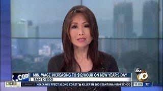 Minimum wage increases January 1