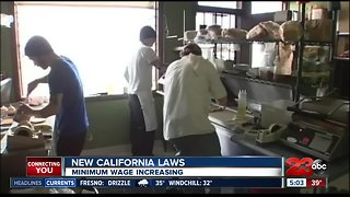 New year, new laws: minimum wage increasing.