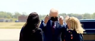 Vaccinated Joe Biden Avoids CDC Guidance - Wears Mask Outside With Other Vaccinated Individuals