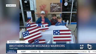 Young brothers make flags to help Wounded Warriors and bring community together