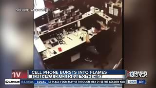 Phone explodes in Las Vegas store