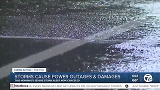 Storms bring heavy rain, strong winds to metro Detroit overnight