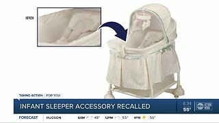 Inclined infant sleeper accessory recalled to prevent suffocation risk