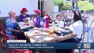 Valley Red Hat Society member celebrates 100th birthday