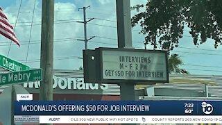 Fact or Fiction: Mcdonalds job interview