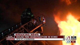 Crews battle house fire near 10th and Elmwood
