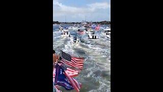 Trump Memorial Day Boat Parade in Jupiter, Florida