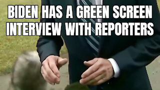 Biden Has A Green Screen Interview With Reporters