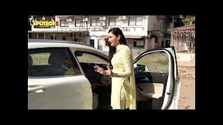 Gauahar Khan Gets Snapped With Husband Zaid Darbar