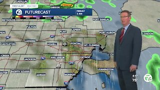 Showers and strong storms