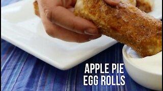 Homemade Apple Egg Rolls Recipe