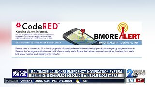 Baltimore launches emergency notification system