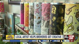 Local artist helps breweries get creative