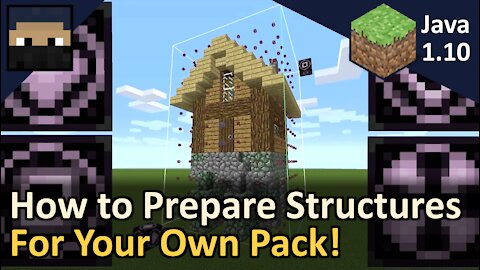 How to Prepare Structures for Your Own Structure Pack! Minecraft Java 1.10