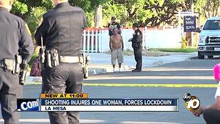 Police swarm La Mesa neighborhood after shooting