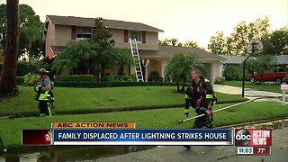 Lightning strike damages Hillsborough County home, fire rescue says