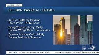 Some local libraries offer free passes to museums, state parks