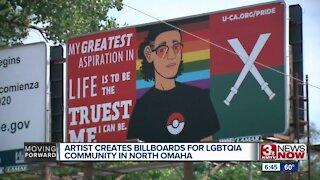 Artist creates billboard for LGBTQIA community in North Omaha