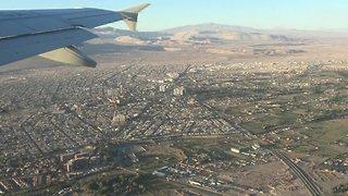 Night Landing at Santiago airport in Chile
