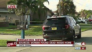 Woman found dead inside Cape Coral home