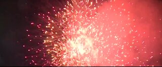 Community fireworks show for Memorial Day