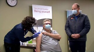 First person in Colorado to get COVID-19 vaccine said he feels 'great'