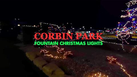 Corbin Park Fountain Christmas Lights