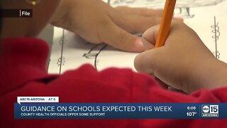 Guidance on Arizona schools expected soon