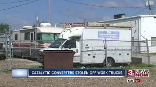 Catalytic converters stolen off work trucks
