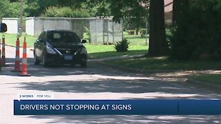 Drivers not stopping at 3-way intersection in Heller Park neighborhood