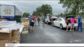Mobile food pantries for families in need
