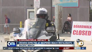 Crowds expected at reopened beach restaurants