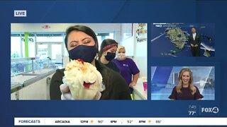 National Strawberry Sundae Day at Love Boat Ice Cream