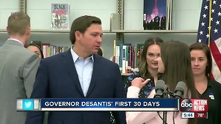 Governor Ron DeSantis gets high marks in first 30 days