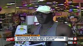 Suspect sought in theft at Fort Myers Family Dollar store
